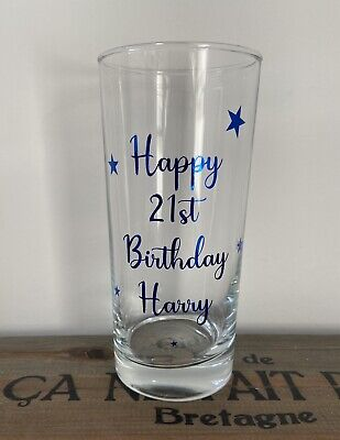 Personalised Rum Vodka Whisky Glass - Birthday  18th  21st  40th  50th 60th • 7.95£