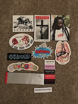 $ CDN36.33 • Buy 100% Authentic Supreme Sticker Lot - 10x Stickers