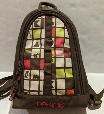 AU25.24 • Buy Dakine Mini Small Backpack Bag Tote Pink Brown Horse Tractor Squares