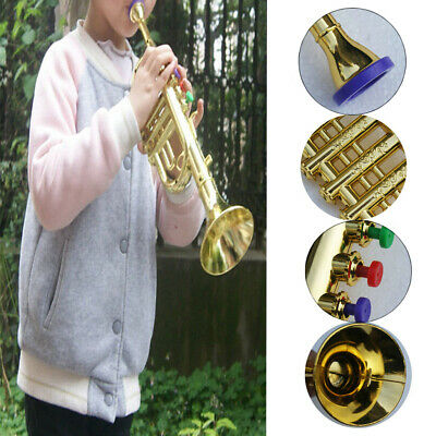 Kids Toy Trumpet Horn Wind Instrument With 4 Colored Keys For Birthday Party • 10.91£
