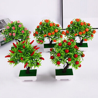 Home Artificial Plant Decoration Supplies Ornaments Potted Fake Durable • 7.81£