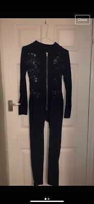 Oh Polly Navy Lace Jumpsuit Size 8-10 • 6.50£