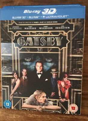 The Great Gatsby (3D Blu-ray, 2013, 2-Disc Set) • 0.99£