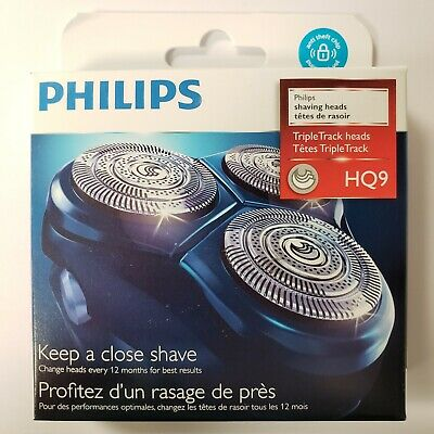 $ CDN39.95 • Buy Philips HQ9 TripleTrack OEM Replacement Rotary Shaver Heads Cartridge Blade NEW