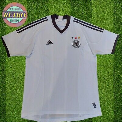 Retro Authentic Germany 2002 Home Jersey Size Medium White • 24.99£