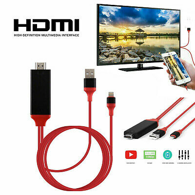 $ CDN12.08 • Buy 1080 HDMI Phone To TV Cable Adapter Converter Fit For IPhone X/XS/7/8 Plus/iPad