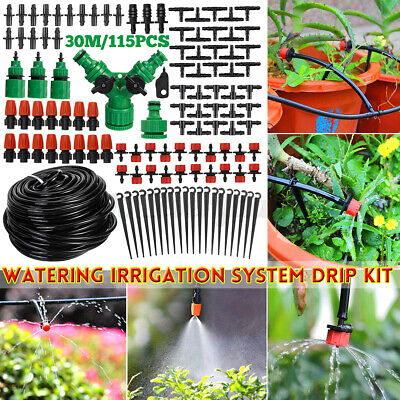 30M Micro Drip Irrigation System Set Automatic Watering Garden Hose Watering Kit • 8.09£
