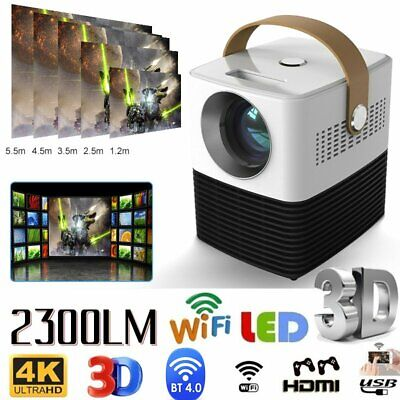 AU151.60 • Buy 1080P HD Intelligent Bluetooth Wifi Projector Home Theater Cinema HDMI USBdio