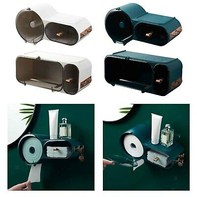 AU27.02 • Buy Toilet Paper Dispenser Holder Bathroom Roll Tissue Storage Box Waterproof