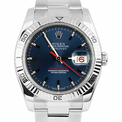 $ CDN9506.97 • Buy Men's Rolex DateJust 116264 Turn-O-Graph 36mm Thunderbird Blue Oyster Watch