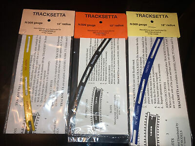 Track Laying Templates N//OO9 gauge straight /& curves Tracksetta