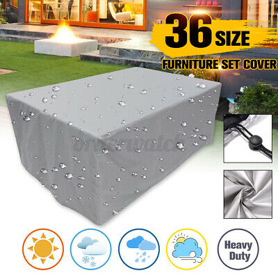 Large PVC Outdoor Garden Furniture Covers Waterproof Patio Rattan Table Cube Set • 11.99£