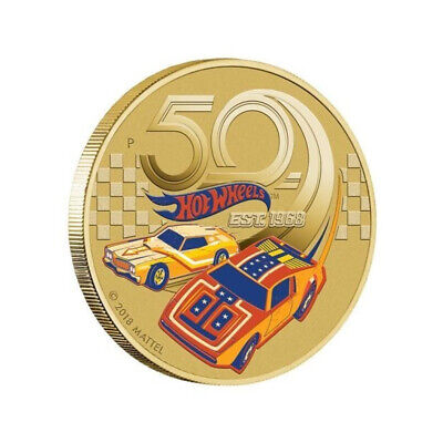 AU12 • Buy 2018 Hot Wheels Cars 50 Years Tuvalu $1 Dollar UNC Coin Carded