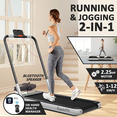 AU439 • Buy 2 In 1 Treadmill Folding Electric Walking Running Machine Home Office Exercise