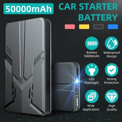 AU49.99 • Buy Portable 50000mAh 12V Car Jump Starter Battery Power Bank Engine Vehicle Charger