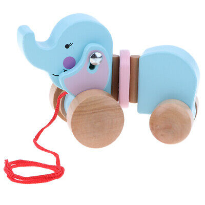 Adorable Elephant Push Along Toy For Baby Toddler Developmental Baby Toy • 12.28£