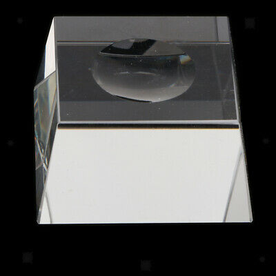 Clear Square Display Stand For Crystal Ball Golf Ball Marbles Sphere Puzzle Ball • 3.40£