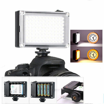 96LEDs Video Light Lamp Lighting Panel For Canon Nikon DSLR Camera Camcorder UK • 11.98£