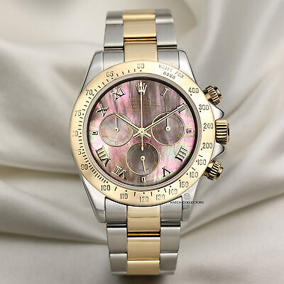 $ CDN27205.05 • Buy Rolex Daytona 116523 Stainless Steel & 18k Yellow Gold Black Mother Of Pearl ...