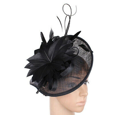 £8.62 • Buy 1920s  Feather Hat Fascinator Wedding Ladies Day Races Royal Ascot