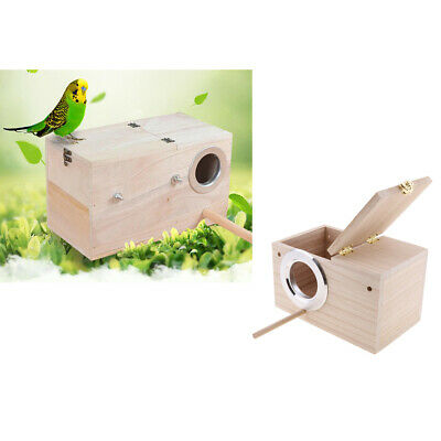 2Pc Wooden Budgie Nest Nesting Box Perch For Cage Aviary With Opening Top XL • 25.34£