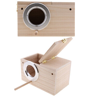 2Pc Wooden Budgie Nest Nesting Box Perch For Cage Aviary With Opening Top L • 33.85£