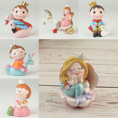 £4.99 • Buy Lovely Wedding Cake Decoration Princess Prince Mermaid Figures Cake Toppers
