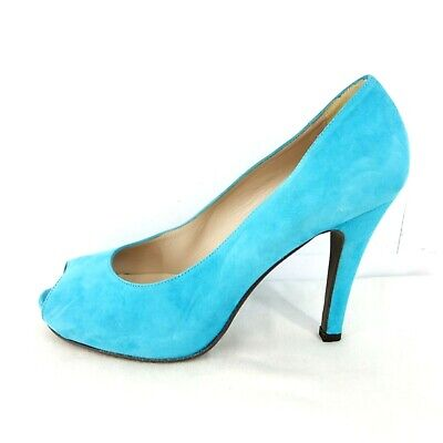 £51.87 • Buy Mascaro Ladies Shoes Peeptoes Court Shoes Suede Leather Blue Size 40 Np 199 New