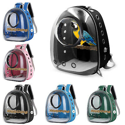 £33.71 • Buy Portable Bird Parrot Travel Cage Clear Lightweight Breathable Backpack Carrier