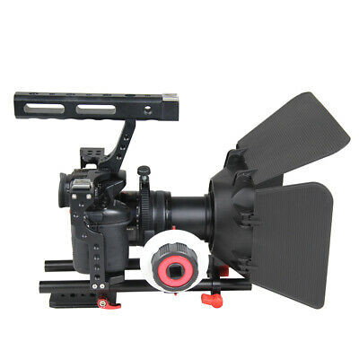 £71.26 • Buy DSLR Rig Video Making Stabilizer Matte Box Follow Focus For  A7 A7R #3