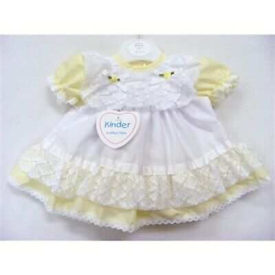 Kinder Baby Girls Spanish Romany Pink Bow Frilly Broderie Anglaise Dress Outfit