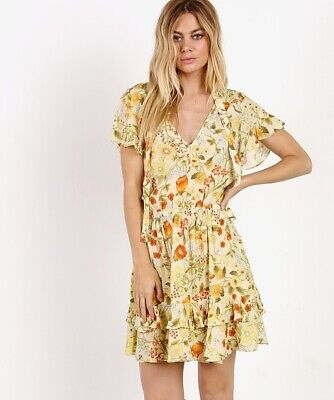 AU203.19 • Buy Spell And The Gypsy Collective Sayulita Mini Playdress Sunflower Small