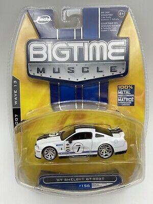 $15.29 • Buy JADA BIGTIME MUSCLE 2007 Shelby GT 500 White 1/64 Scale FREE SHIPPING