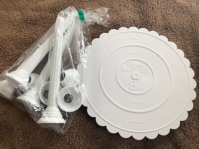 Wilton 8   Cake Separator Plate And 4 Columns • 3.58£