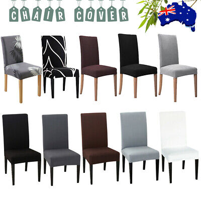 AU6.83 • Buy Stretch Dining Chair Seat Covers Spandex Lycra Washable Banquet Wedding Party AU
