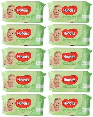 AU33.99 • Buy 10 X PK56 HUGGIES BABY WIPES NATURAL CARE STICKY TOP 100% Brand New
