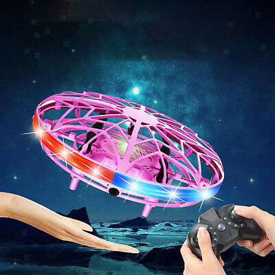AU30.51 • Buy Mini Drone For Kids Adults, Hand Operated Flying Toy With 360° Rotating And LED