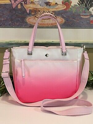 $ CDN120.23 • Buy Kate Spade Jae Degrade Medium Satchel Tote Bag Radiant Pink Nylon Crossbody $259