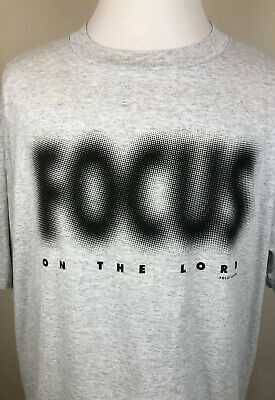 $20 • Buy Vintage 90's Solid Light Focus On The Lord Single Stitch Inspirational Shirt 3XL