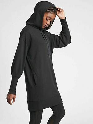 $ CDN88.78 • Buy ATHLETA Mala Hoodie Dress M MEDIUM Black Soft Commute Travel