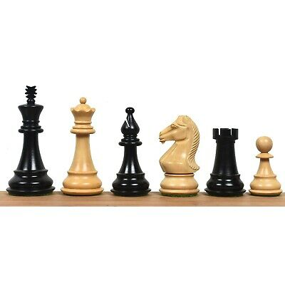$170.95 • Buy 4  Majestic Series Staunton Chess Pieces Only Set-Double Weight Ebonised Boxwood