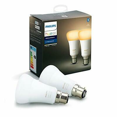 AU97.50 • Buy Philips Hue White Ambiance Smart Bulb Twin Pack LED [B22 Bayonet Cap] With