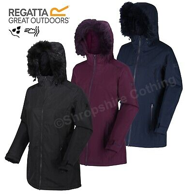 Regatta Womens Myla Waterproof Jacket Hooded Insulated Parka Walking Coat • 31.99£