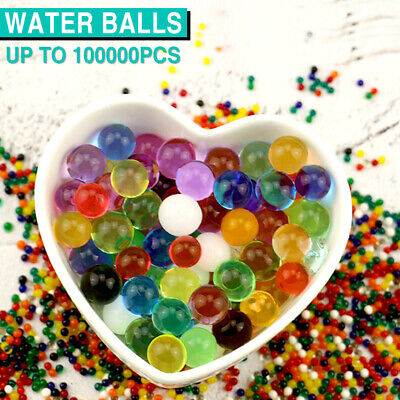 AU20.99 • Buy Up To 100000pcs Orbeez Crystal Soil Water Balls Jelly Gel Beads For Vase Wedding