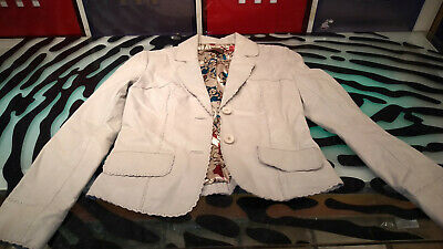 $ CDN89 • Buy Danier Womens Leather Jacket White Size Small Good Condition Western Style