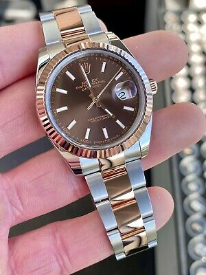 $ CDN15718.39 • Buy 2018 Rolex Datejust 41mm 126331 Steel & 18k Rose Chocolate W/ Rolex Papers