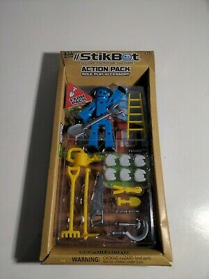 NEW SEALED StikBot Action Pack Role Play Accessory Farm Blue Shovel Zing K1 • 12.16£