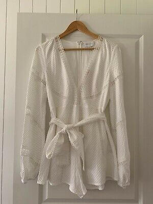 AU120 • Buy *New With Tags* Alice Mccall Playsuit White Lace Size 12