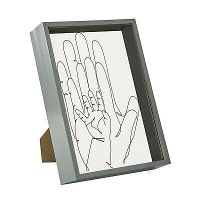 £9.99 • Buy Deep Box Photo Frame 3D Shadow Picture Standing Hanging A4 (8 X 12 ) Grey