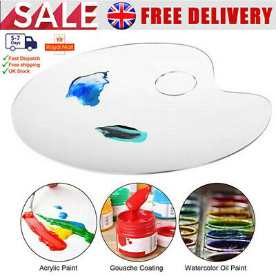 £7.99 • Buy Clear Artist Paint Pallet Painting Tray Palette Color Mixing For Plastic Paints